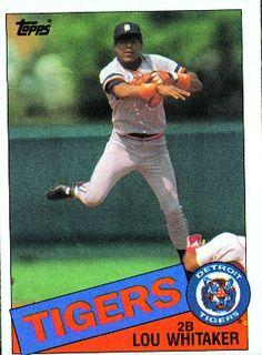 Lou Whitaker 1985 Second Base - Detroit Tigers Card Number  480 358ba1bd1