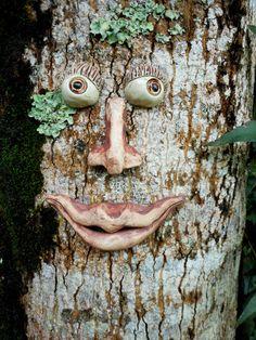 Smiling Tree Face Stoneware by Uturn on Etsy, $29.00