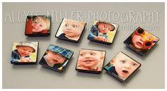 Photo Tile Magnets I think I'd like to make this into puzzle magnets.  Use one picture and create all the blocks from it.