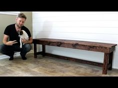 (58) The $20 Farmhouse Bench - Easy DIY Project - YouTube