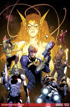 Take a first look at Angela, the biggest new character in the Marvel Universe, in this cover for Guardians of the Galaxy #5 by Sara Pichelli!  http://marvel.com/news/story/20644/angela_shines_in_exclusive_first_look_at_the_guardians_of_the_galaxy_5_cover