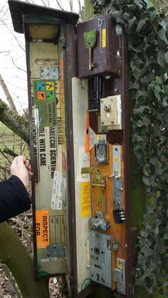 Lots of locks inside this large #geocache.