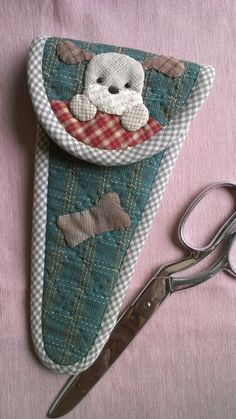 scissors case by Munkongshop on Etsy,