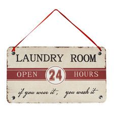 """Laundry Room"" Antique Wisdom Sign Wall Décor"