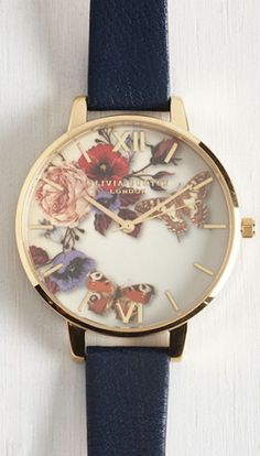 such a pretty floral faced watch
