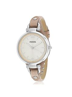 Fossil Women ES2830 Georgia Stainless Steel Watch with Leather Band