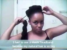 Natural Hair Bun **Kim Kardashian Inspired** - YouTube