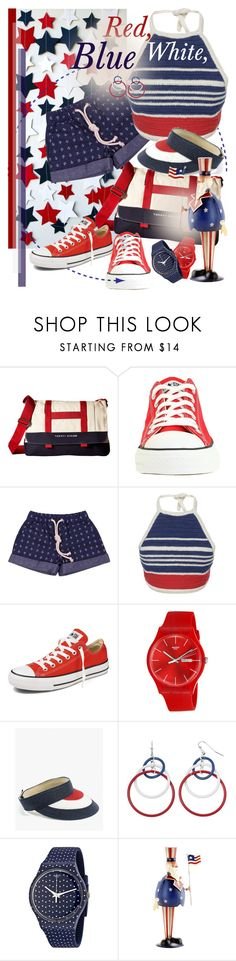 """Red, White and Blue Fashion"" by betiboop8 ❤ liked on Polyvore featuring Tommy Hilfiger, Converse, Vika Gazinskaya, Swatch, Azalea, Pier 1 Imports, redwhiteandblue and july4th"