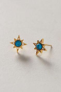 turquoise burst earrings / anthropologie
