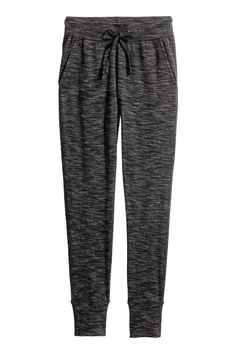 Joggers in marled sweatshirt fabric with an elasticated drawstring waist, side pockets and tapered legs with ribbed hems. Kids Fashion, Autumn Fashion, H&m Online, Airport Style, Drawstring Waist, Fashion Online, Pajama Pants, Sweatpants, Legs