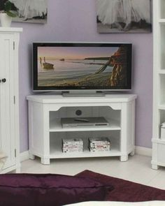 Is your television resting on a table or similar, and you're looking for a bit of inspiration for something new? Look no further than our Country White Corner Television Cabinet. This elegant unit is perfect for your living area; its corner properties save space in your room, making use of an area that is often wasted. The TV can be angled towards the centre of the room, allowing everyone to be able to see whatever is on.