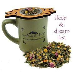 Sleep & Dream Tea recipe Sweet & soothing, all of these herbs combined have different agents to help with insomnia, muscle aches, stomach aches, tension, stress, and so much more.  2 Tbsp Spearmint 1 Tbsp Chamomile 1 Tbsp St. John's Wort 1 Tbsp Nettle Leaf 1 Tbsp Rosebuds 1 Tbsp dried Orange or Lemon Peel  Boil the water on the stove Put the herb mix into a large infuser Pour the water into the pot Let it steep for 4-5 minutes