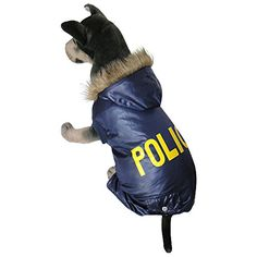 Blue Policeman Style cat Dogs Cosplay Coat Dogs Clothes For Medium Large Dog Medium Large Dogs Clothing^.XL ** Stop everything and read more details here! : Cat sweater