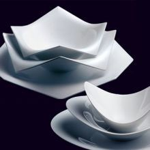 Rosenthal A la Carte Dinnerware soft corners folded over edges and unique shapes makes & Modern Dinnerware Sets | Spotted at Rosenthal are these contemporary ...