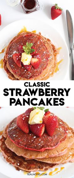 Classic Strawberry Pancake recipe | Breakfast Ideas Easy Delicious Dinner Recipes, Quick Easy Dinner, Delicious Food, Cheap Meals To Make, Cheap Dinners, Food To Make, Breakfast For A Crowd, Breakfast Ideas, Breakfast Recipes