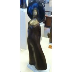 Alfred Tibor Sculpture Wind Blown, Bronze. Available at Argo & Lehne Jewelers.