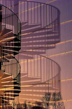 Reflection and Shadow - Spiral Staircase by Canadapt on Flikr