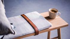die clevere Sitzgelegenheit für alle Räume - die Bloomingville Holz-Sitzbank aus Eiche mit Sitzkissen // Jetzt im ATALA Online Shop günstig bestellen