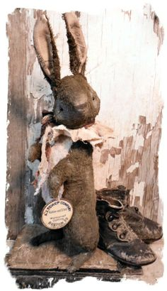 RABBIT STANDING Old Brown Hare ★by Whendi Bears