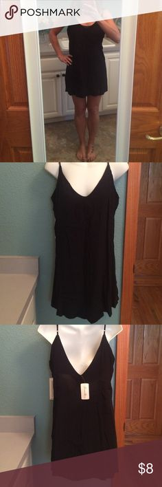 Black mini dress This would be great to wear under something or by itself! Forever 21 Dresses Mini