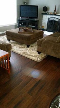 home decorators collection hand scraped strand woven dark mahogany