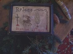 EARLY INSPIRED ~PRIMITIVE NAIVE ~1807 CHRISTMAS MOTIF SAMPLER~(LB)    #NaivePrimitive #ThePrimitiveStitcher