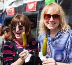 Proper's Pickles - pickle on a stick Vegan Street Fair www.nohoartsdistrict.com