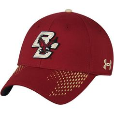 376699241a5 Men s Under Armour Maroon Boston College Eagles Sideline Renegade Accent  Flex Hat