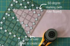 Learn tips for cutting triangle patchwork with a regular quilting ruler.