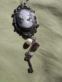 Lovely Woman Cameo Necklace by EclecticDiana on Etsy, $22.00