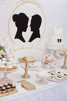 Darling dessert display with silhouettes