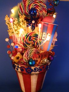 Lighted Carnival Circus Decor Centerpiece. $115.00, via Etsy.