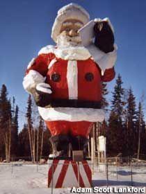 Santa Statue @ the Santa House North Pole Alaska for http://ift.tt/2gUqHTb