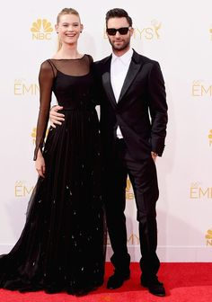 Adam-Levine and Behati Prinsloo at the Primetime Emmys.