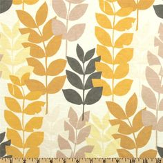 Richloom Antique Satin Fairfield Leaves Straw (Item Number: EE-246)    OUR PRICE: $16.98 PER YD