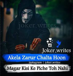 Quotes In Hindi Attitude, Attitude Thoughts, Good Thoughts Quotes, Attitude Quotes For Boys, Hindi Quotes, Attitude Status, Sad Crush Quotes, Crazy Quotes, Life Quotes