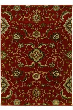 Lazio Area Rug - Red Rugs - Transitional Rugs - Synthetic Rugs - Area Rugs - Rugs - Made In America - American Made | HomeDecorators.com