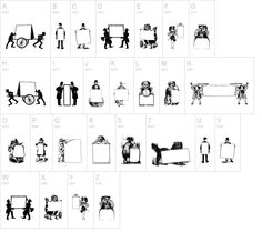 Picture Squares free font