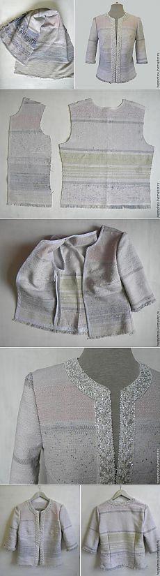 Модный жакет из... бабушкиного половика