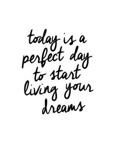 """Juniqe® Motivation Zitate & Slogans Leinwandbild - Design """"Today is a Perfect Day"""" entworfen von The Motivated Type Quotes To Live By, Me Quotes, Motivational Quotes, Inspirational Quotes, Today Quotes, The Words, Typographie Logo, A Perfect Day, Live For Yourself"""