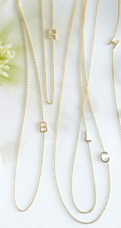 Love these Maya Brennar initial necklaces