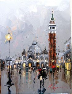 Kal Gajourn Palette Knife Oil Paintings: Cityscape - Venice