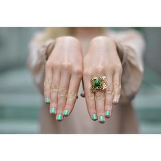 #green #nails #beauty