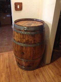 Decorative Recycled Oak Wine Barrel - New Year's SALE. $110.00, via Etsy. ___want to make a dog bed out of this.