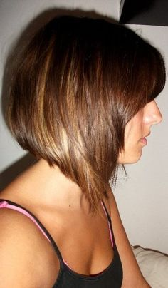 medium bob haircuts side view - Google Search