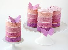 Purple-Ombre-butterfly-cakes