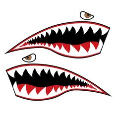 Shark Mouth, Shark Jaws, Shark Logo, Fish Logo, Tattoo Knee, Mouth Painting, Airbrush, Plane Drawing, Bape Shark