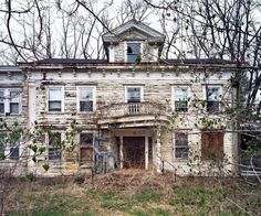 Abandoned doctor's house on the grounds of the former Harlem Valley asylum.