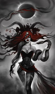 An Interview With Lilith – October Frights 2018 Gothic Fantasy Art, Beautiful Fantasy Art, Fantasy Witch, Lilith Diablo, Wicca, Sucubus Anime, Fantasy Castle, Angels And Demons, Dark Art