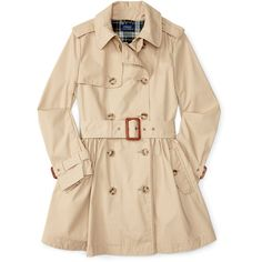 Cotton Trench Coat ❤ liked on Polyvore featuring outerwear, coats, jackets, beige trench coat, cotton trench coat, beige coat, trench coats and cotton coat